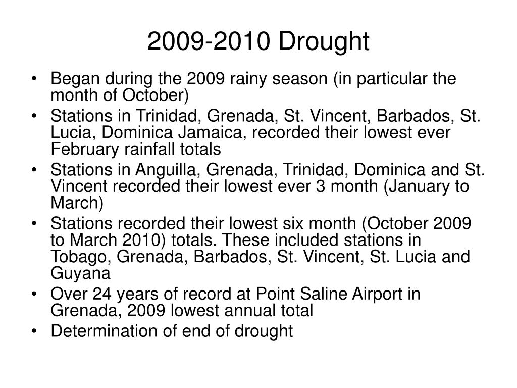 2009-2010 Drought