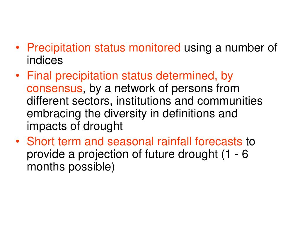Precipitation status monitored