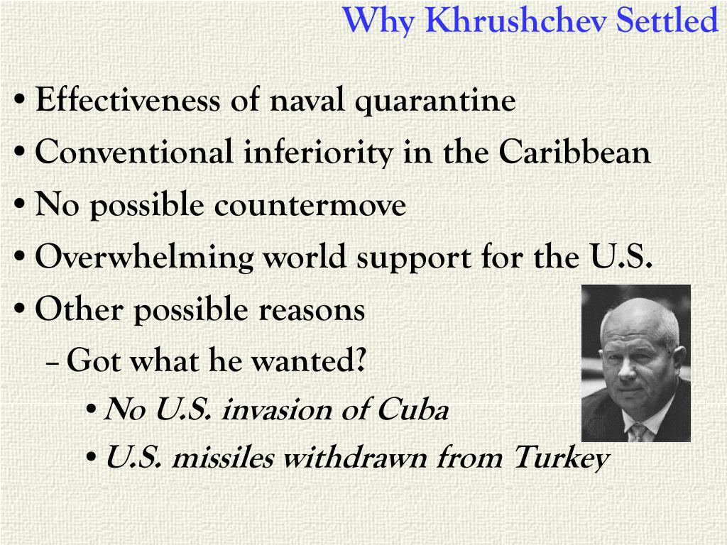 Why Khrushchev Settled