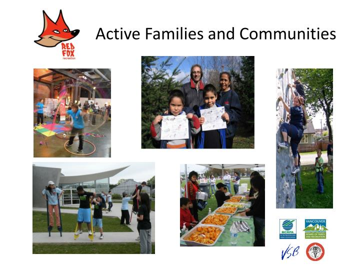 Active Families and Communities