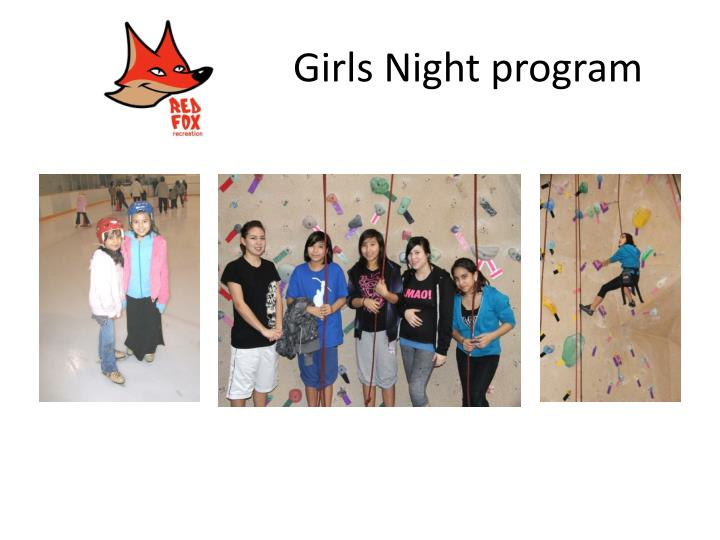 Girls Night program