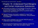 chapter 19 undeclared food allergens and certain intolerance substances
