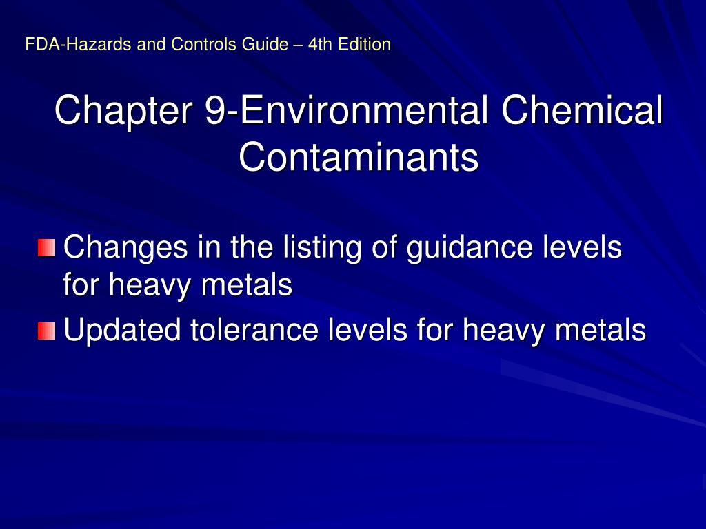 Chapter 9-Environmental Chemical Contaminants