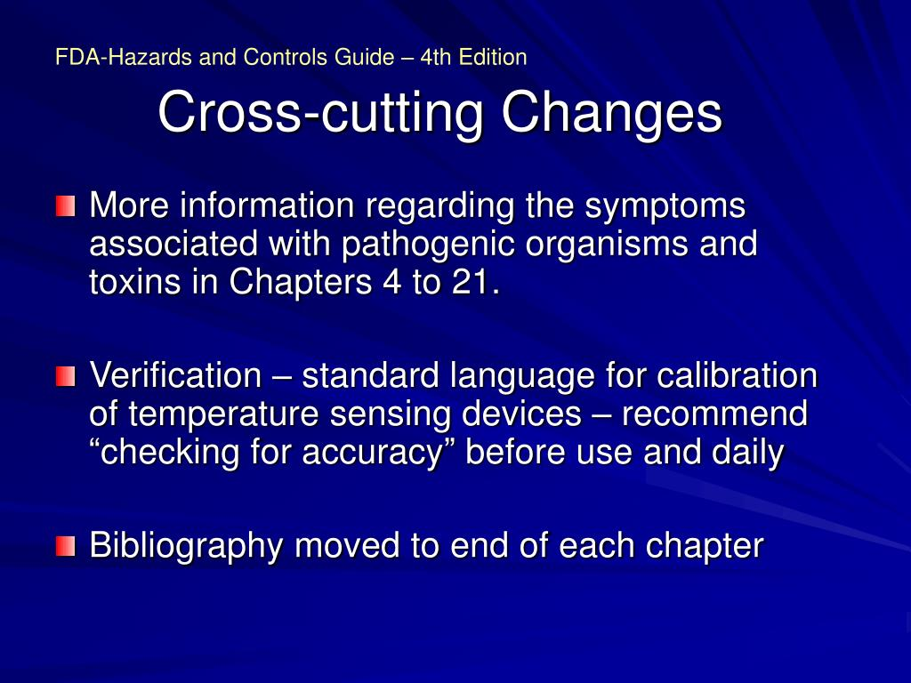 Cross-cutting Changes