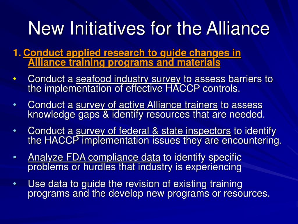 New Initiatives for the Alliance