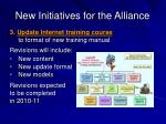 new initiatives for the alliance21