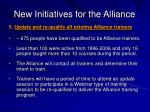 new initiatives for the alliance23