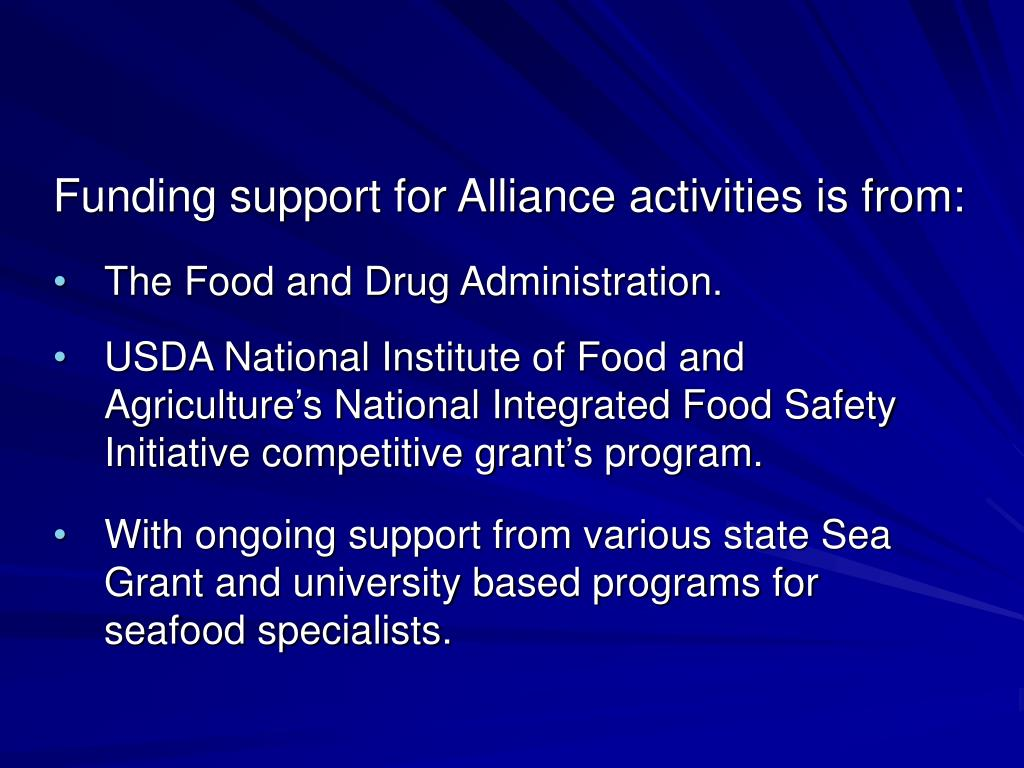 Funding support for Alliance activities is from: