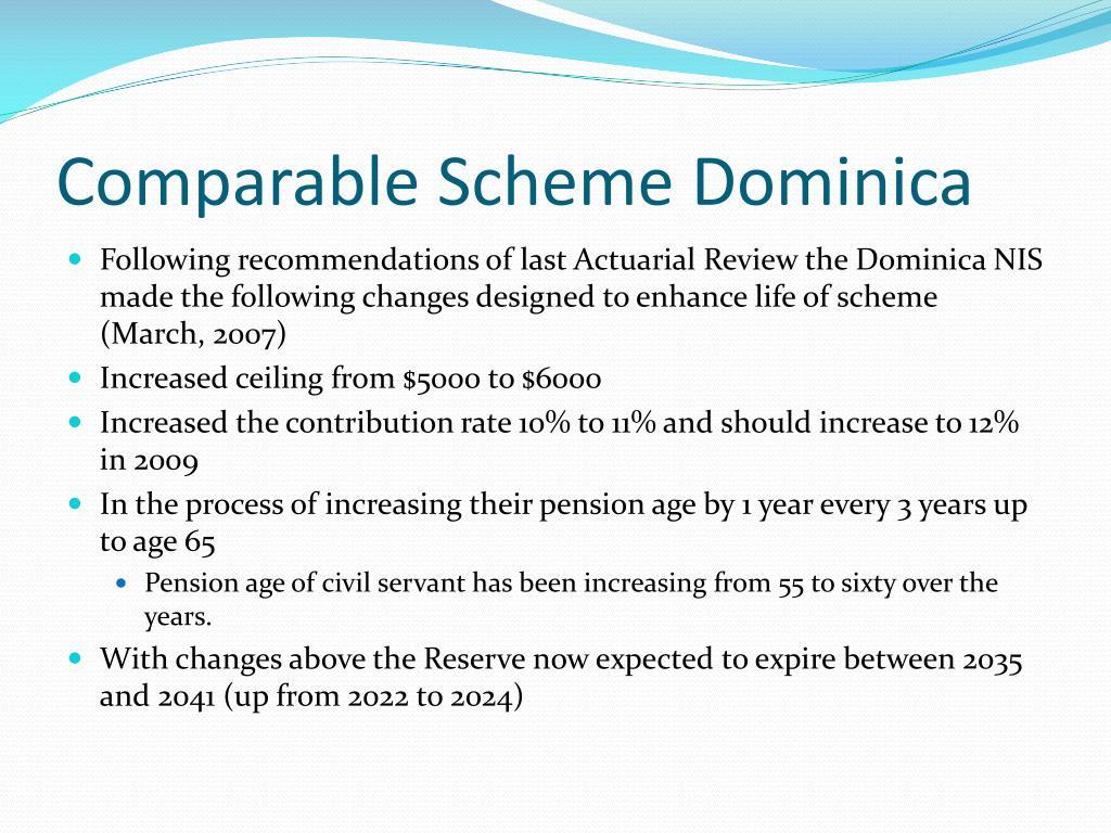 Comparable Scheme Dominica