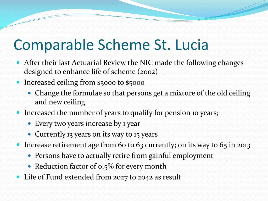 Comparable Scheme St. Lucia