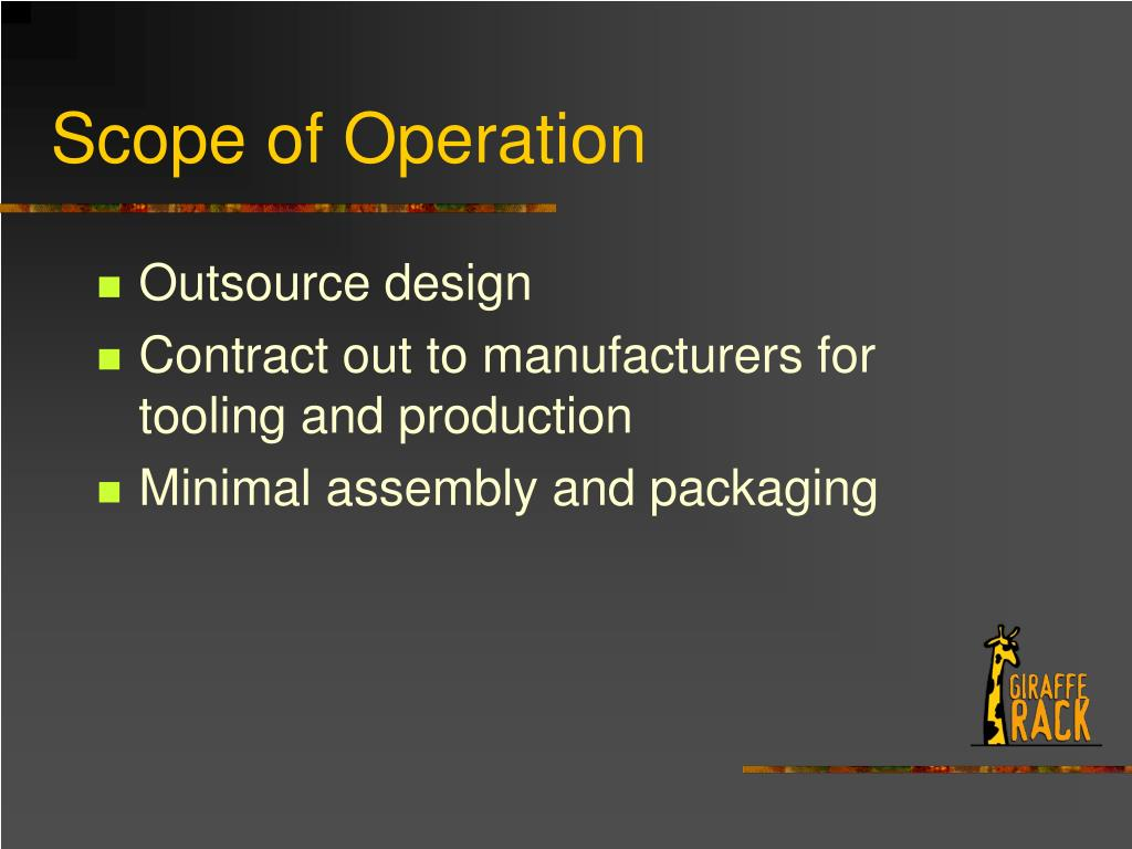 Scope of Operation