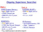 ongoing supernova searches