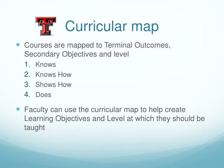 Curricular map