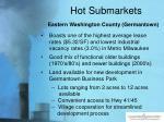 hot submarkets