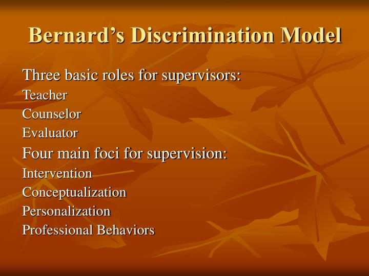 Bernard's Discrimination Model