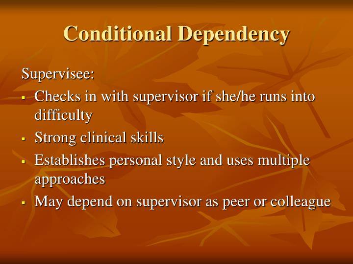 Conditional Dependency