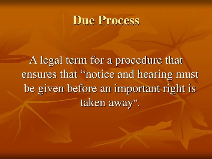 Due Process