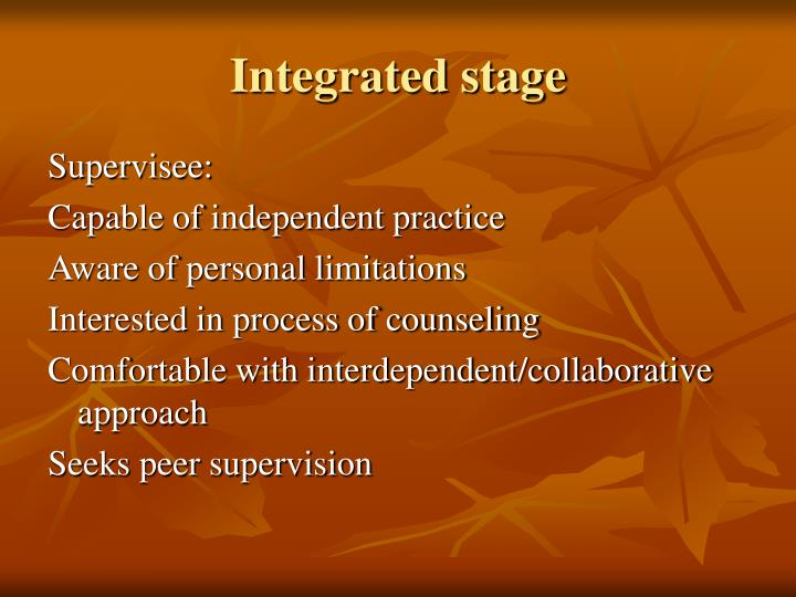 Integrated stage