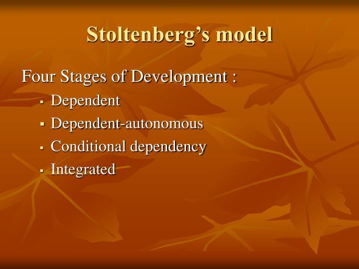 Stoltenberg's model