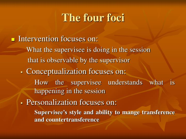 The four foci