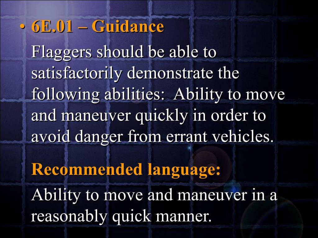 6E.01 – Guidance