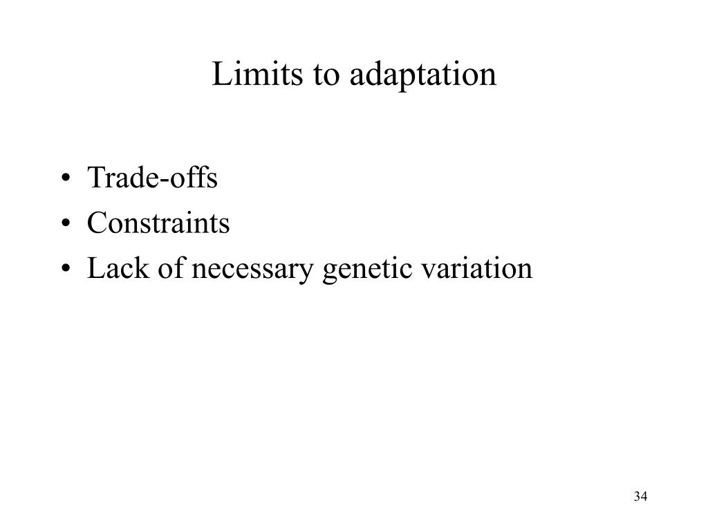 Limits to adaptation