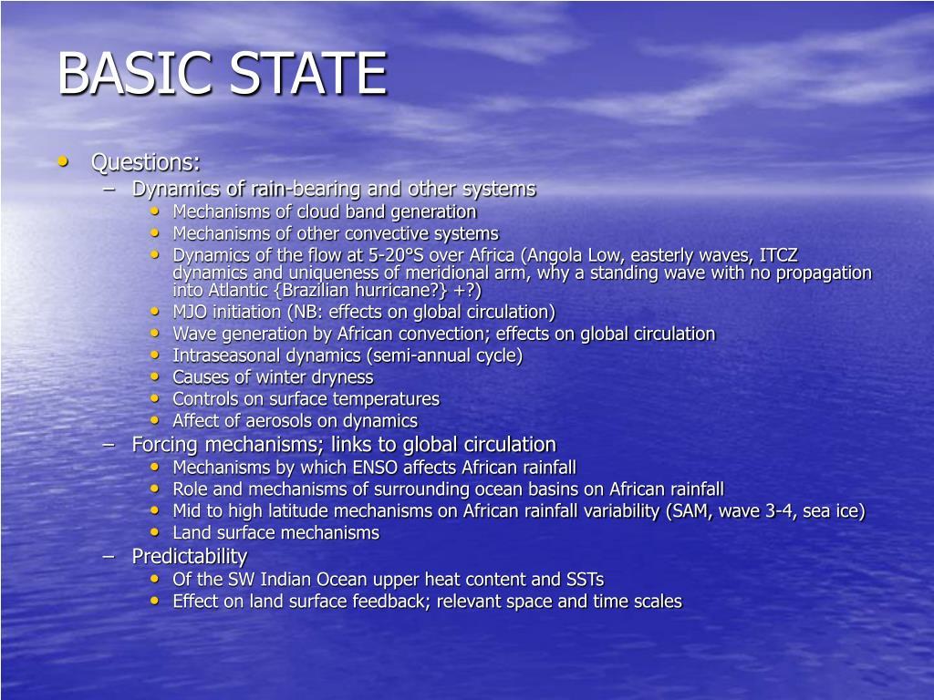 BASIC STATE