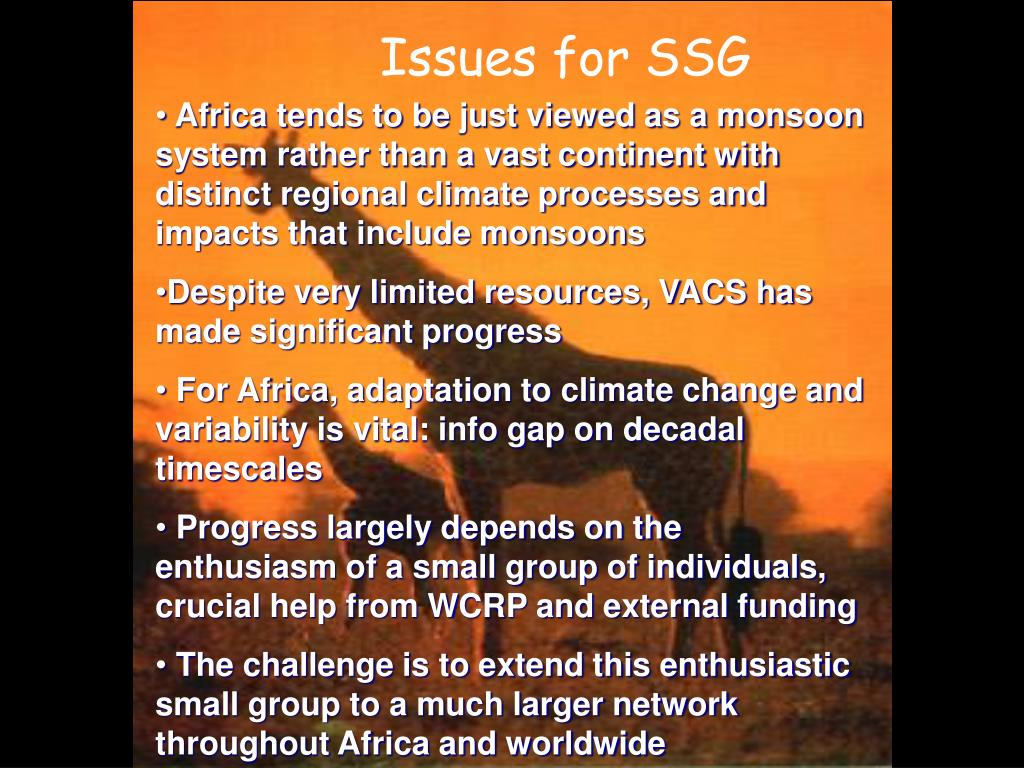 Issues for SSG