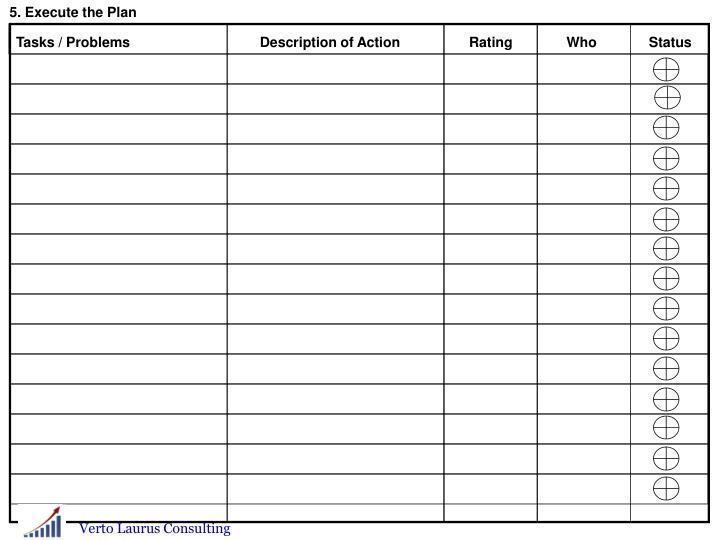 5. Execute the Plan
