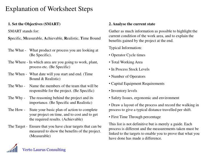 Explanation of Worksheet Steps