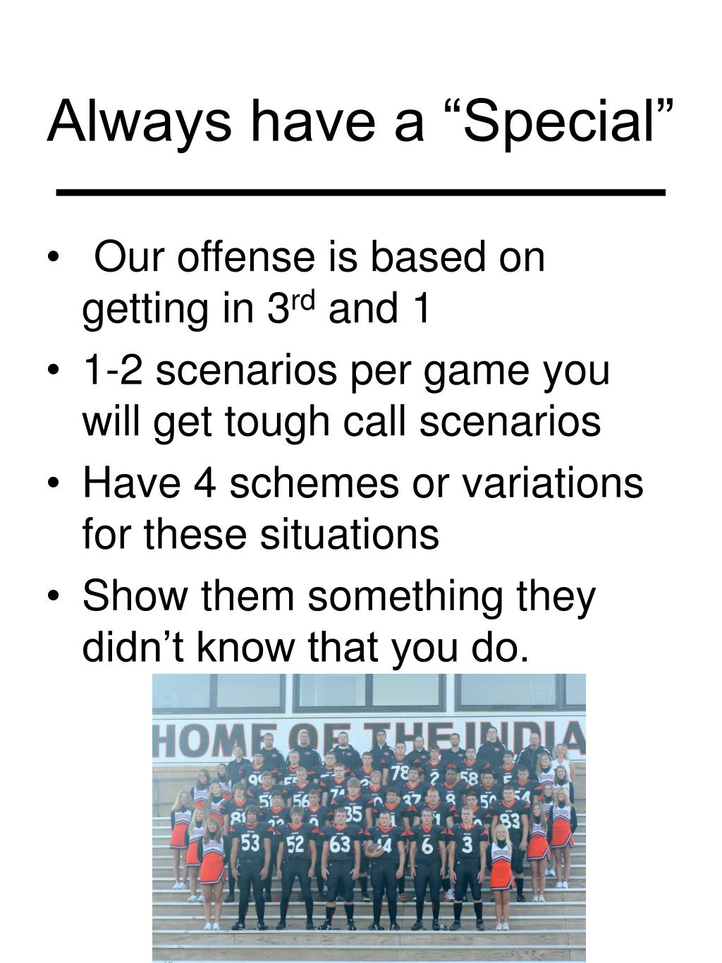 """Always have a """"Special"""""""
