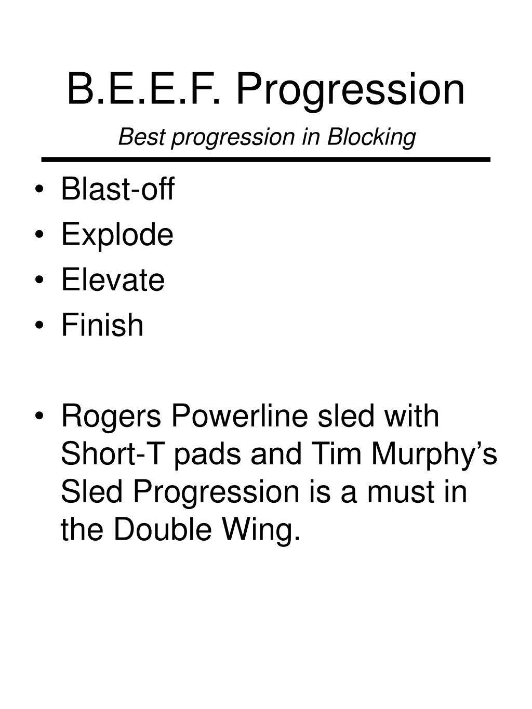 B.E.E.F. Progression