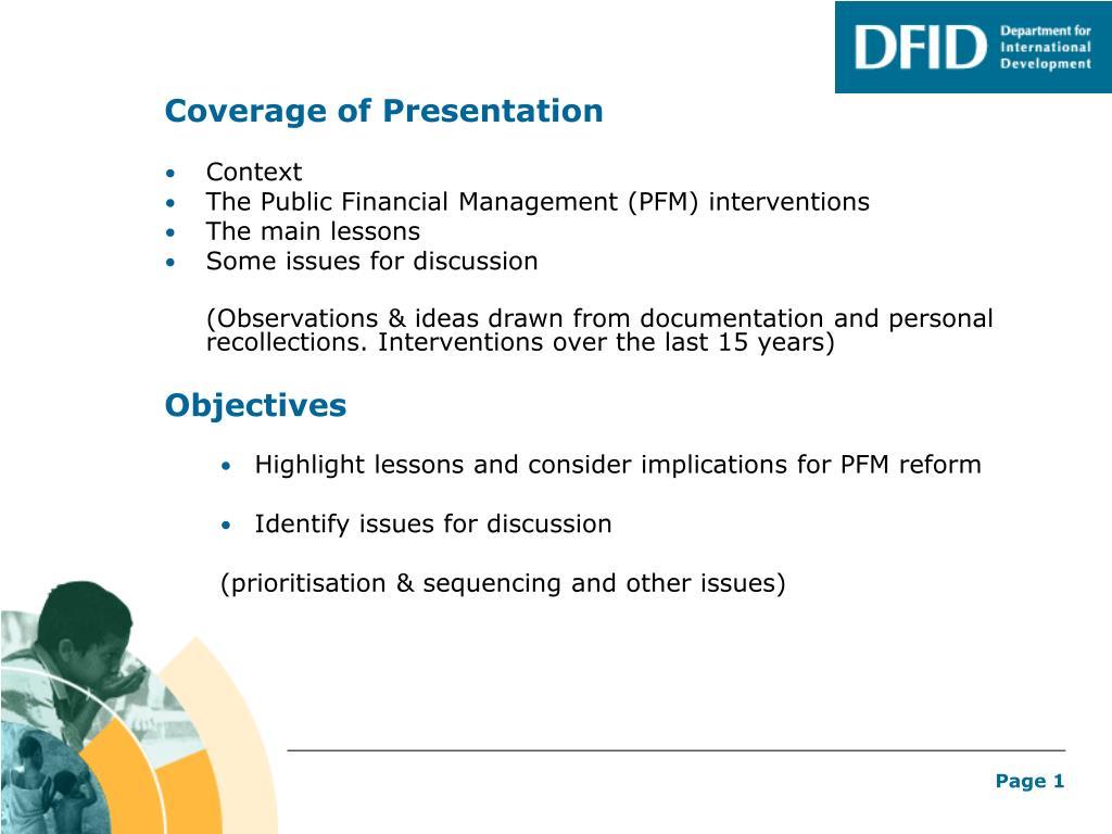 Coverage of Presentation