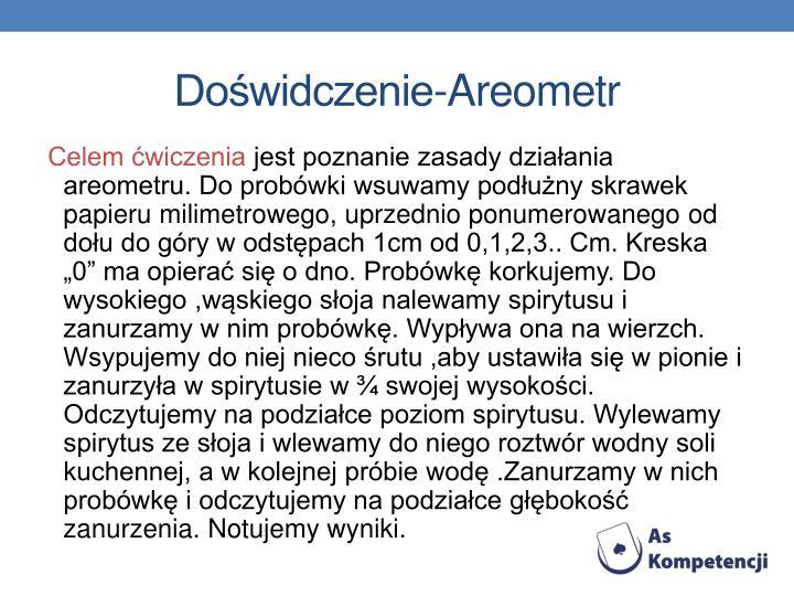 Doświdczenie-Areometr