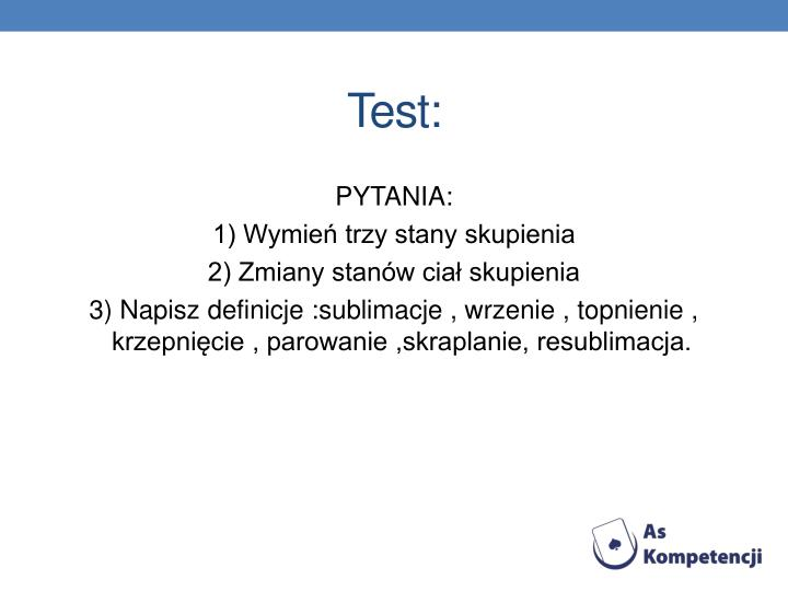 Test: