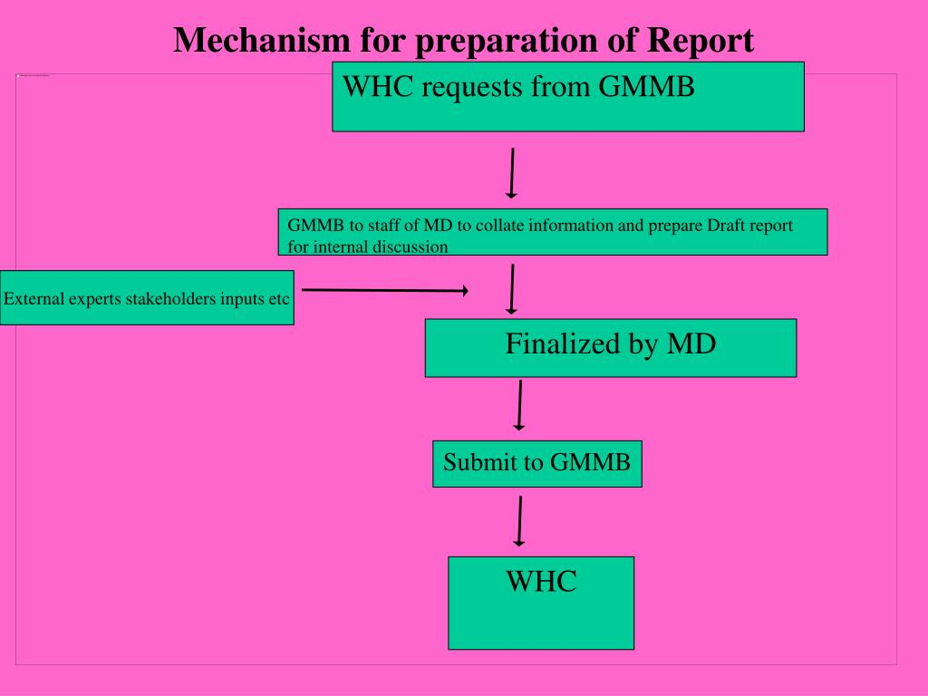 Mechanism for preparation of Report
