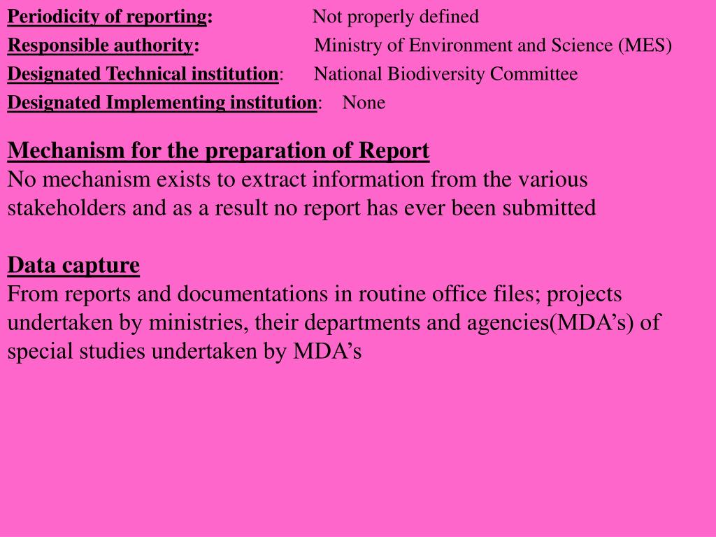 Mechanism for the preparation of Report