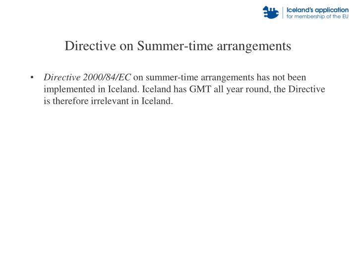 Directive on Summer-time arrangements