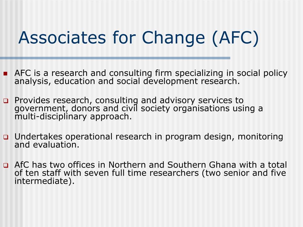 Associates for Change (AFC)