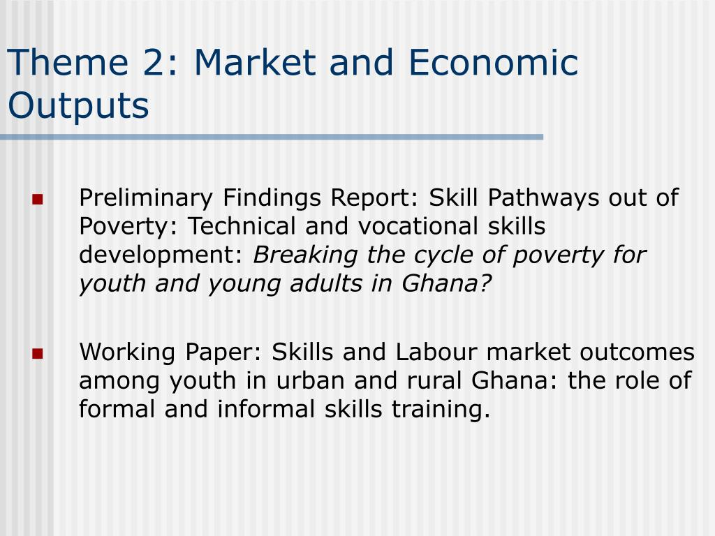Theme 2: Market and Economic Outputs