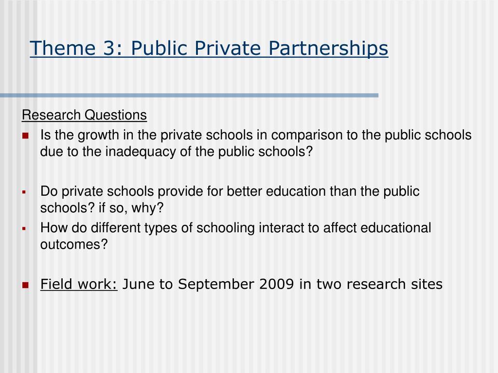 Theme 3: Public Private Partnerships