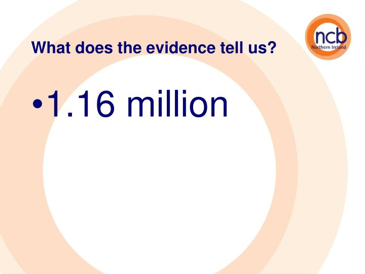 What does the evidence tell us?