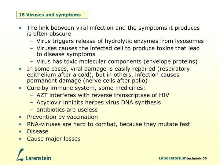 18 Viruses and symptoms