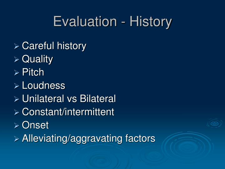 Evaluation - History