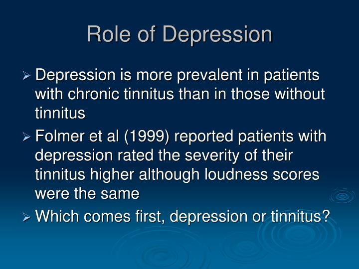 Role of Depression