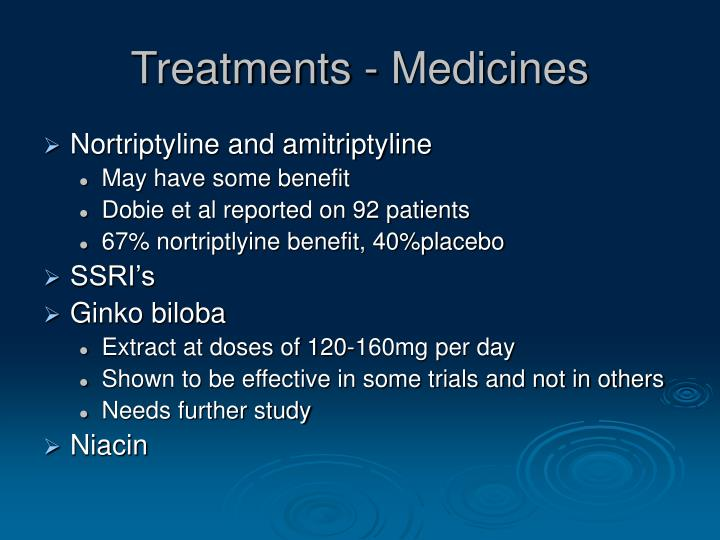 Treatments - Medicines
