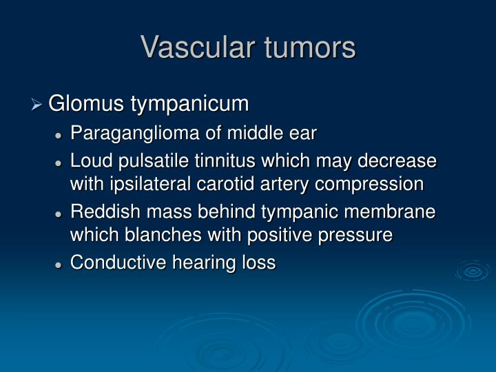 Vascular tumors