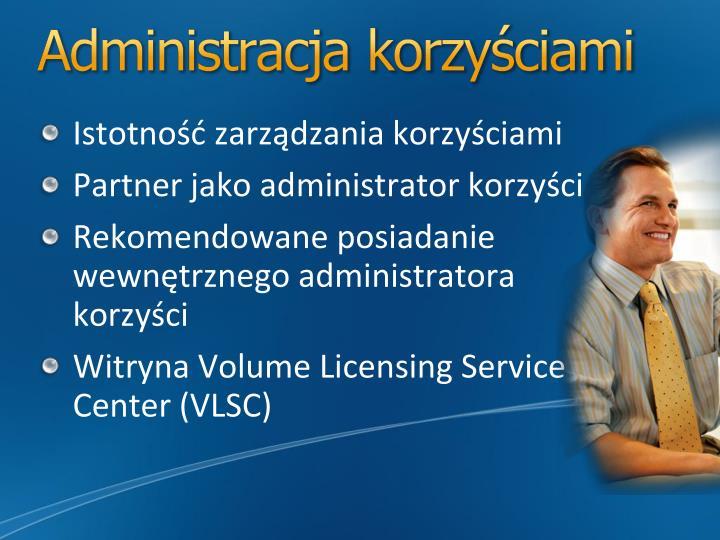 Administracja korzyściami