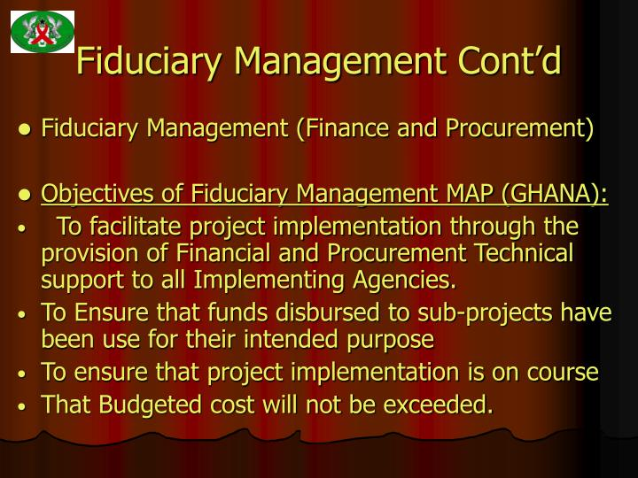 Fiduciary management cont d