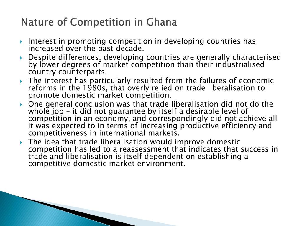 Nature of Competition in Ghana